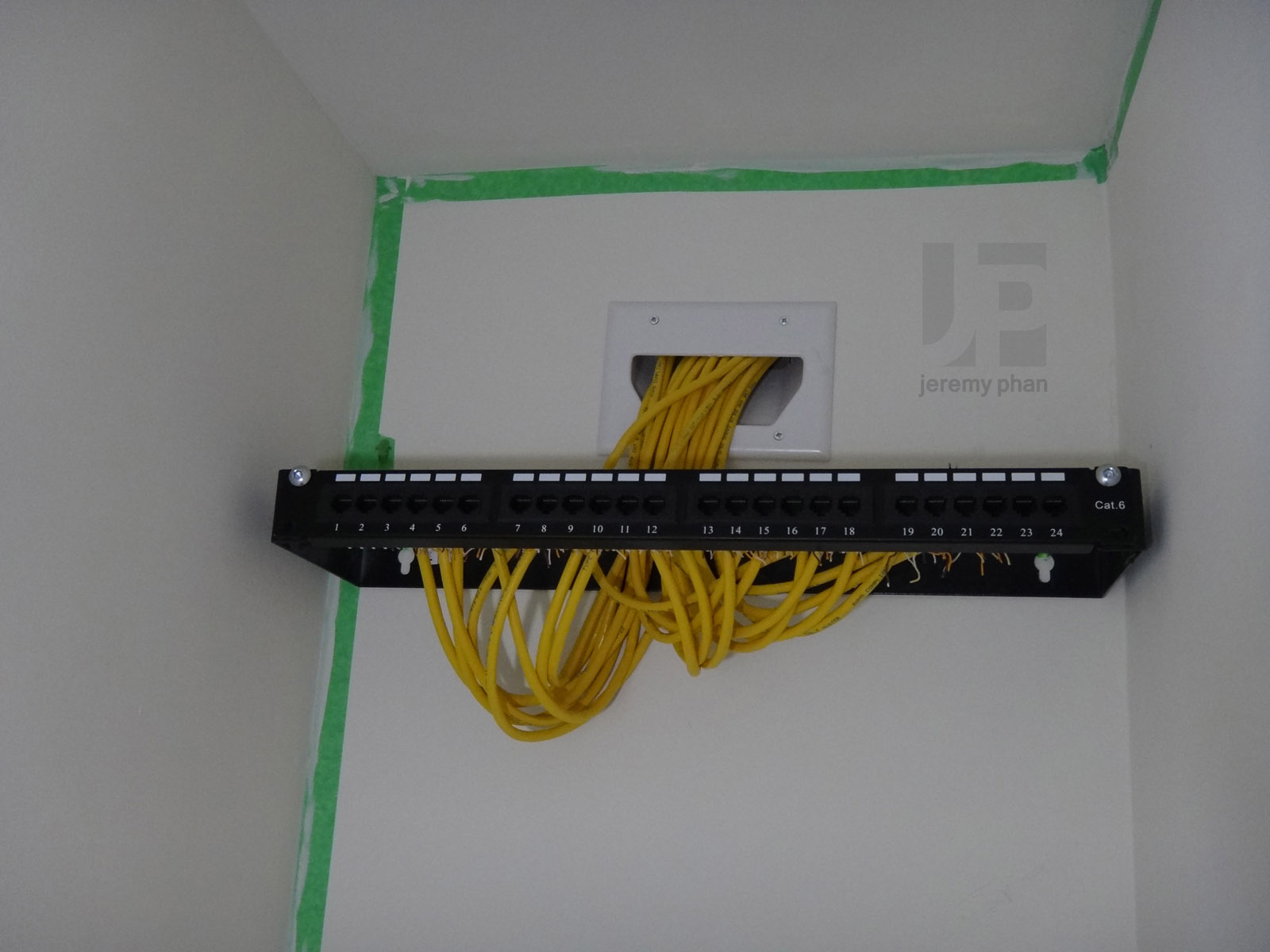 What Type Of Wall Plate For Gang 30 Cat6 Wires Homenetworking Structured Wiring Panel U Adubftw I Used A