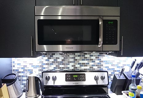 LED Lighting Over the Stove
